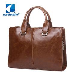 Кожаный плечо Сумка почтальона случае ноутбук портфель