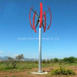 Alta utilização inicial Efficieny 3KW 5 kw 10KW de Potência Vertical da turbina eólica também chamado de turbina eólica com fibra de Blade