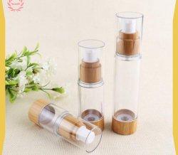 15ml 30ml 50ml Bamboe om de Transparante Kosmetische Fles Zonder lucht van de Lotion