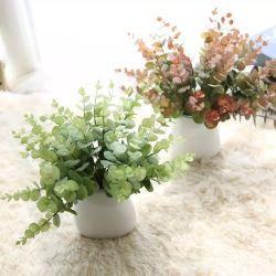 Commerce de gros Bonsai plantes artificielles fleurs de soie Décoration d'accueil