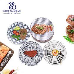 Louças Dinnerware Round Adesivo de mosaicos de cerâmica barata grés prato de servir para o casamento de restauração