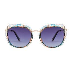 Мода роскошь металлической раме очки для женщин Vintage ретро УФ400 солнечные очки