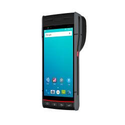 PDA Android con la posizione tenuta in mano del codice a barre mobile della stampante 1d 2D con la stampante termica