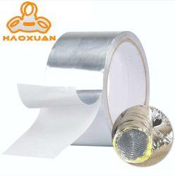 Slivoïde d'aluminium Aluminium tuyau du conduit d'épreuve du feu en fibre de verre feuilleté de la bande avec adhésif en silicone