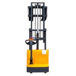 Équipement de manutention de matériel de levage téléchargeur de batterie hydraulique télescopique manuel Mini Empileur électrique Chariot élévateur à fourche à palettes