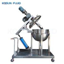 Lleno de acero inoxidable revestido de cocina industrial hervidor de agua, presión de vapor industrial hervidor de agua, comida de camisa de cocina