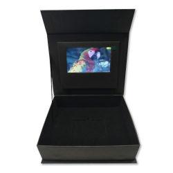 Kundenspezifische Shenzhen-Fabrik Geschenk-Schmucksachen LCD-Bildschirm-videobroschüre-Kasten des 3 Zoll-verpackenbildschirm-LED