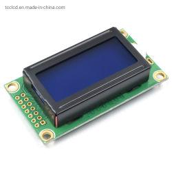 0802 LCD 8X2 LCD van het Karakter de Blauwe Module van Stn van de Module van de Vertoning