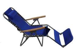 Cama plegable con una almohada y reposapiés sillas de playa silla de jardín