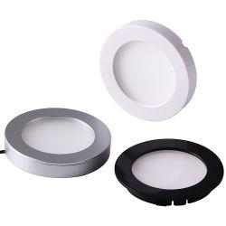 Mini LED bajo la luz de Gabinete de la luz de LED puck de la Ronda de superficie de la luz de panel LED