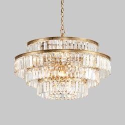 Venda quente União moderno hotel de luxo em casa durante todo o ouro designer contemporâneo grande Luz Pendente Lustre LED