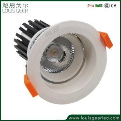 중국 공장 CE 홈 호텔 클럽 실내 알루미늄 10W 12W 15W 18W 20W 매입형 LED 스팟 조명