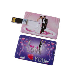 USB su ordinazione poco costoso del biglietto da visita dell'azionamento dell'istantaneo del USB del ricordo di cerimonia nuziale della scheda del USB della plastica