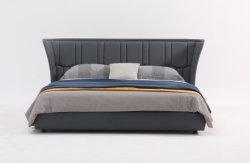 호화스러운 고전적인 현대 고품질 가죽 침대