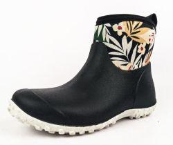 De fabrikant Custom-made Cow Brown Rain Shoes Lady's Low Tube Drie kleuren Printing licht Rubber Wear Four Seasons