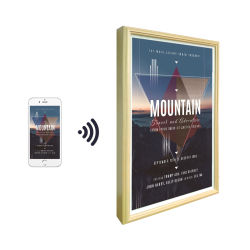 Una visualizzazione di vendita calda di 2020 HD 21.5 video Android del ciclo della maschera dell'affissione a cristalli liquidi Digitahi Digital di pollice del blocco per grafici di legno della foto di WiFi