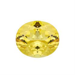GRC-gecertificeerd laboratorium Diamond Big Carat Vivid Yellow Color Oval Brilliant Cut faceted Gemstone Loose Lab Grown Sapphire