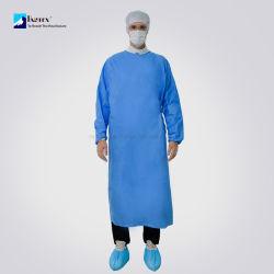 Rinforzare l'abito medico di Eo SMS dell'abito chirurgico di lunghezza AAMI del Livello 3 del liquido di anima di infiammabilità di resistenza del chirurgo lungo sterile a gettare ultrasonico di protezione