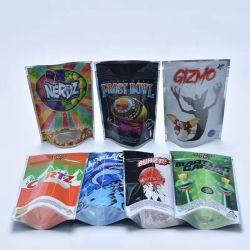 Op maat bedrukt opstaand hoesje hersluitbaar Flat Zipper Snack Weid Zak Voedingsverpakking voor koekjes droge vruchten vlees thee