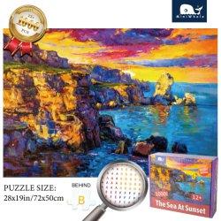MiniWhale Amazon Top 셀러 Jigsaw Puzzle 1000 재고 상품 성인 및 아동용 맞춤 퍼즐 공급업체에 동의합니다