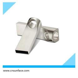 شريحة USB بتصميم معدني أنيق مع فتحة