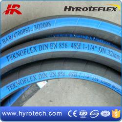 Tubo flessibile di gomma del freno idraulico di SAE 100r9 del tubo flessibile della treccia d'acciaio