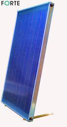 Zonneboiler met platte plaat en hoge druk, blauwe absorber