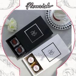 Черный цвет - белый цвет цветной печати крафт-бумаги подарочная упаковка Cupcake Подарочная упаковка десерт Подарочная упаковка
