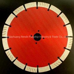 van het 232 Blad van de Zaag van de Diamant van de mm- Diameter Segment het Turbo voor Droog Knipsel
