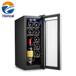 12 bouteilles de vin de boissons avec refroidisseur d'armoire du refroidisseur d'écran numérique