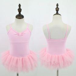Commerce de gros de haute qualité d'enfants Les enfants filles Ballet rose robe Costume de ballet de pratique