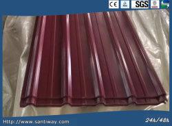 고품질 물 증거 Prepainted 금속 물결 모양 루핑 강철 플레이트