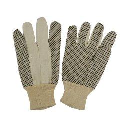 Gestippeld pvc breit van de Katoenen van de Boor van de Stippen van pvc van de Pols de Handschoen Veiligheid van het Werk