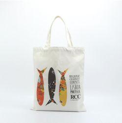 Logo personnalisé réutilisables promotionnel tissu organique eco fourre-tout sac de coton commercial