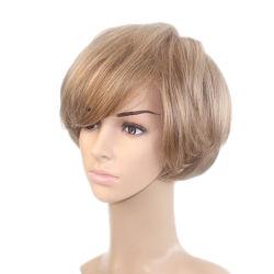 Lm001 silicium antiglisse Mono haut et le Lace Front perruque de cheveux synthétiques Plein Cap Hairpiece