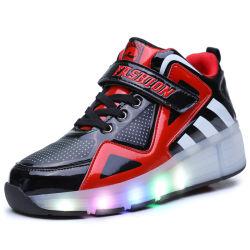 2017 Novo! ! Hotsale! ! As crianças das sapatas de skate do rolete LED piscante recarregável Kids Calçado com rodas retrácteis Kids Calçado de desporto