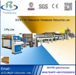 3 Ply интеллектуальное производство гофрированный картон производственной линии машины