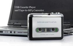 مشغل أشرطة USB محمول يعمل بمحول إلى محول كمبيوتر شخصي رقمي MP3 التقط مشغل موسيقى صوت استريو