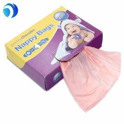Limpar plástico Sacos de fraldas descartáveis para bebé/Sacos de fraldas, perfumada com contagem de 200