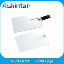 Aandrijving van de Flits van de Creditcard USB van de Stok USB van het Geheugen van de Flits van de Druk USB van het Embleem van de steun de Plastic