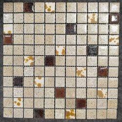 Fissure de la glace de la surface vitrée en Céramique Mosaïque montage au sol de douche