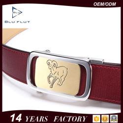 حزام سير مصنع صنع وفقا لطلب الزّبون أنيق [جنوين لثر] معدن إبزيم رجال حزام سير