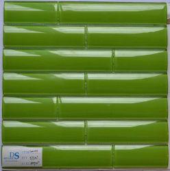 Azulejo de mosaico de bambú del vidrio verde de la serie de la venta caliente