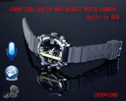 Numérique sans fil1080P Caméra de vision nocturne Smart Watch construit en 4 Go ou 8 Gb/16Go Mini enregistreur vidéo de détection de mouvement CAM