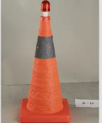 70cm PP 접이식 교통 표지 도로 원뿔