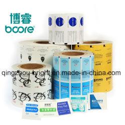 L'impression de papier aluminium laminé Rouleau de papier pour l'emballage tampon d'alcool