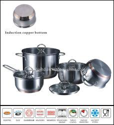 Bodem de Zonder water Cookware van het Koper van het roestvrij staal