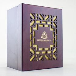 Los valores de fábrica de joyas y Don Logo Dorado Caja de madera embalaje