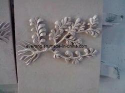 Planta de mármol tallado en piedra natural, la escultura de alivio para la decoración de arte de pared