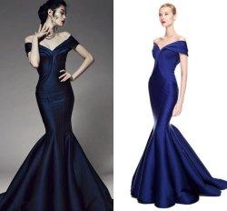 Просто платье Z220 выпускного вечера партии Bridesmaid сатинировки Mermaid мантии вечера